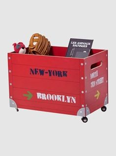 Baúl de almacenaje con ruedas niño