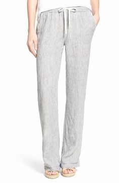 Caslon Drawstring Linen Crop Pants Size Extra Large $58 FTC #3581