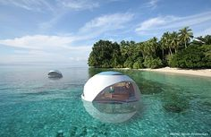 Indian architect Shekhar Shinde has proposed a stunning new floating home that takes inspiration from oyster shells. The eco friendly home is partially submerged in water and floats on the principles of buoyancy and a counter weight provided in the lower part of the structure.