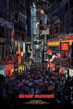 Blade Runner Poster by Kilian Eng x 13 color screen, private commission, not for sale. Blade Runner Poster, Blade Runner Art, Blade Runner Wallpaper, Blade Runner 2049, Ville Cyberpunk, Cyberpunk Art, Posters Vintage, Art Vintage, Kilian Eng