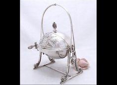 Antique silver butterdish...