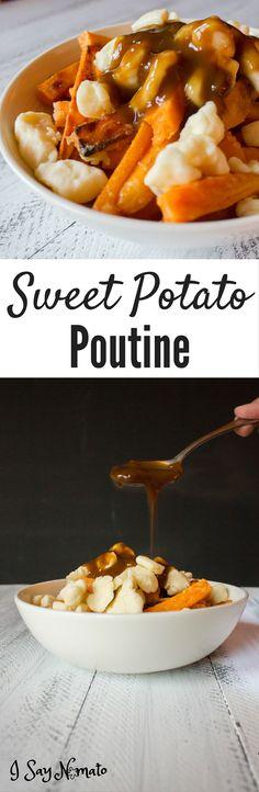 Sweet Potato Poutine - I Say Nomato Nightshade Free Food Blog