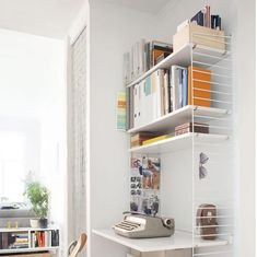 Bookcase, Desk, Shelves, Furniture, Home Decor, Labor Positions, Work Spaces, Grey Dining Rooms, Hidden Storage