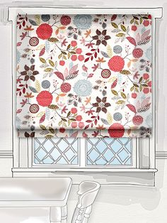 with a whimsical feel the Alina fabric is an eclectic mix of gorgeous blooms and out of this world leaves. This fabric is littered with delicate detailing so there's always something new to catch the eye and make you smile! #floral #roman #blind Roller Blinds, Roman Blinds, Blinds For Windows, Window Dressings, Make You Smile, Shutters, Valance Curtains, Window Treatments, Pattern Design