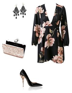 A fashion look from September 2017 featuring pink floral dress, embellished shoes and glitter handbag. Browse and shop related looks. Embellished Shoes, Pink Floral Dress, Miss Selfridge, Fashion Looks, Polyvore, Shopping, Dresses, Vestidos, Bedazzled Shoes