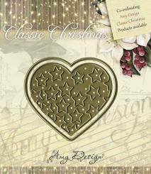 Amy Design Stanzer Classic Christmas Star-filled heart 2tlg.