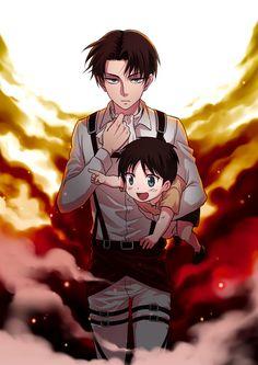 Tags: Anime, Hinako (A.M.Sweet), Shingeki no Kyojin, Rivaille, Eren Jaeger