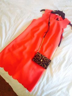 """texas-lilly: """" obsessed with my j-crew scalloped dress, especially paired with leopard accessories. Cheap Michael Kors, Michael Kors Outlet, Handbags Michael Kors, Michael Kors Jet Set, Preppy Style, My Style, Preppy Southern, Tumblr Fashion, Vogue"""