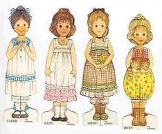 The Gingham Girls. I remember playing with the paper dolls when I was little, they had coloring books too.