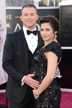 Channing Tatum and Jenna Dewan at the Oscars 2013