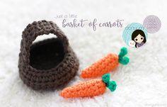 Basket of Carrots - free crochet pattern by DORIYUMI