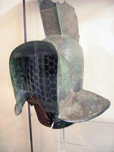A 'murmillo' type of gladiator's helmet.