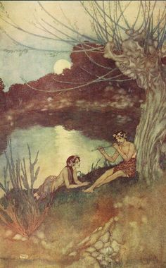 Caliban: Sounds and sweet airs, that give delight and hurt not - Shakespear's Comedy of The Tempest, 1908
