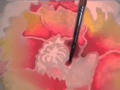 "Basic technique for painting on silk. From online silk painting course. See http://silkpaintinggallery.com for more information or see the next all day ""Silk Painting Playshop"" go to http://francinedufourjones.com/next-silk-painting-playshop-in-alaska/"