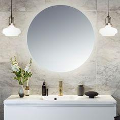 Speil til badet – slik finner du det beste Mirror, House, Furniture, Bathroom Ideas, Home Decor, Nice, Design, Lily, Round Bathroom Mirror