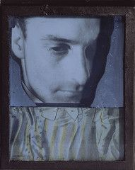Portrait of Julien Levy, Daguerreotype-Object, 1939  Joseph Cornell (American, 1903-1972)  Assemblage with silvered glass, mirrored glass shards, black sand, gelatin silver prints, and other materials