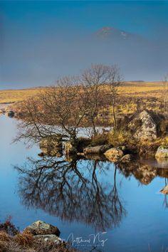 Beautiful Lochan na h-Achlaise in Scotland