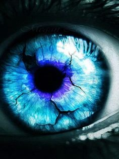 """""""Blue eye""""  It is through the vision of the eyes controlled by our heart that we see love and promptly fall in ♡"""