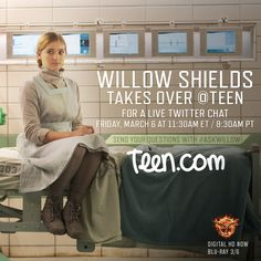 TOMORROW - Join Willow Shields for a live Twitter Q&A at @Teen! Send your questions on Twitter using #AskWillow.