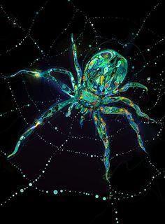 """Spider"" art print by Shadow Chen Illustration Tumblr, Digital Illustration, Spider Art, Spider Webs, Ghost In The Machine, Grunge Art, Spirited Art, Visionary Art, Beautiful Artwork"