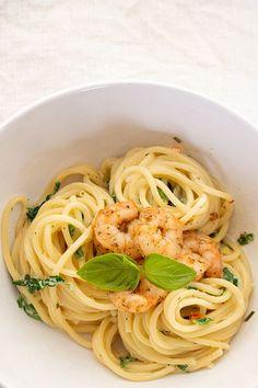 #Spagetti #Garnelen #Spinat #pasta #schnellesessen #pastalover #dinner4friends