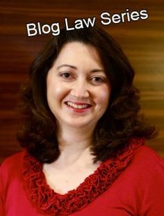 Sara is a lawyer and has many excellent posts on blog law topics - every blogger should read!