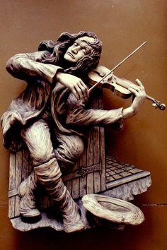 Violinist by Dales Sakalienes Droziniai