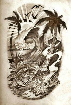 samoan tattoo designs and meanings Tiki Tattoo, Surf Tattoo, Hawaiianisches Tattoo, Tattoo Bein, Samoan Tattoo, Tattoo Forearm, Tattoo Quotes, Polynesian Leg Tattoo, Irezumi Tattoos