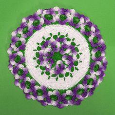 Sweet Violets Potholder