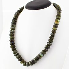 572.05 CTS NATURAL BLUE FLASH ROUND FACETED LABRADORITE BEADS NECKLACE GEMSTONE