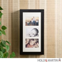 Holly & Martin Stella Photo Display Wall-Mount Jewelry Armoire-Black|yourstylefurnishings.com