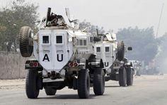 Armored AU trucks African Union, Monster Trucks, Strength, Military, Army, Military Man