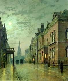 John Atkinson Grimshaw. Park Row