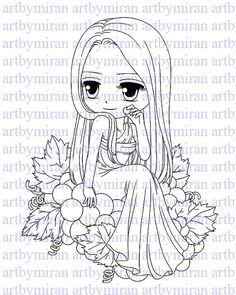 Digital Stamp-Berrylicious, Digi Stamp, Coloring page, Printable Line art for Card and Craft Supply