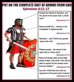 Put on the complete suit of armour from Jehovah