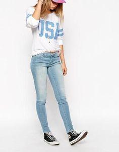 wildfox  marianne  rhrenjeans  sky #streetwear #denim #covetme