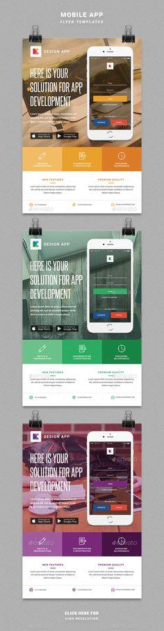 Creative Minimal App Flyer Template