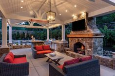 Design Patio, Backyard Patio Designs, Covered Patio Design, Backyard Covered Patios, Nice Backyard, Covered Back Patio, Backyard Porch Ideas, Backyard With Pool, Covered Deck Designs