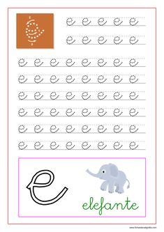Caligrafía de las vocales en pdf para imprimir | Fichas de Caligrafía Preschool Education, Preschool Worksheets, Preschool Activities, Montessori, Teaching Letters, Korean Words, Kids Writing, Homeschool, Diagram