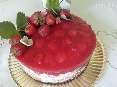 Jahodová torta so želatínou (fotorecept) - recept   Varecha.sk Tiramisu, Cake, Ethnic Recipes, Food, Kitchen, Basket, Cooking, Kuchen, Essen