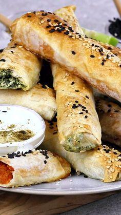 Bite Size Appetizers, Vegan Appetizers, Vegan Snacks, Appetizer Recipes, Vegetarian Finger Food, Vegan Finger Foods, Vegetarian Recipes, Turkish Snacks, Turkish Food Recipes