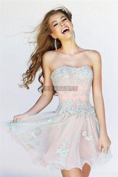 Strapless Empire Waist Prom Dress