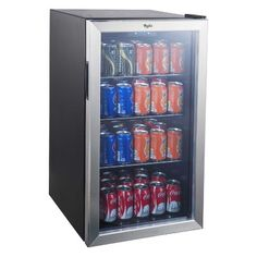 The Whirlpool Beverage Center with Stainless Steel See-thru Door keeps your drinks, snacks and other party necessities cool in this mini beverage refrigerator. This compact refrigerator offers a generous Beverage Refrigerator, Compact Refrigerator, Hangout Room, Teen Hangout, Interior Led Lights, Beverage Center, Target, Stainless Steel Doors, Shopping