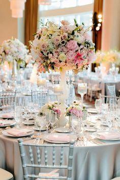 wedding reception centerpiece  idea; Featured Photographer: Pen Carlson Photography