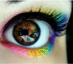 eye color - how wonderfully tie dye and hippie-esque is this?