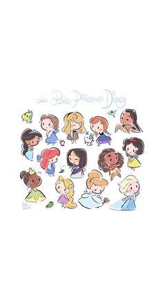 Disney Fan Art, Disney Princess Art, Kawaii Disney, Baby Disney, Disney Phone Wallpaper, Wallpaper Iphone Cute, Cute Disney Drawings, Cute Drawings, Osos Cartoon Network