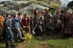 Still of Peter Jackson, Richard Armitage, Martin Freeman, Mark Hadlow, William Kircher, Dean O'Gorman, Stephen Hunter and Aidan Turner in The Hobbit: An Unexpected Journey