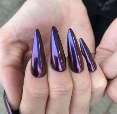 Sexy Nails, Love Nails, Fun Nails, Colorful Nail Designs, Cute Nail Designs, Hollywood Nails, Nailart, Pretty Nail Colors, Pointy Nails