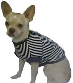 Navy Stripes Dog Shirt  4 Sizes Available  You by SharonMakesIt