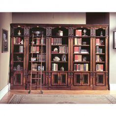 Parker House   Corsica 3 Piece Library Wall Corner Bookcase Antique Vintage  Dark Chocolate $2460.78 @hayneedle | Home Design | Pinterest | Library  Wall, Pu2026